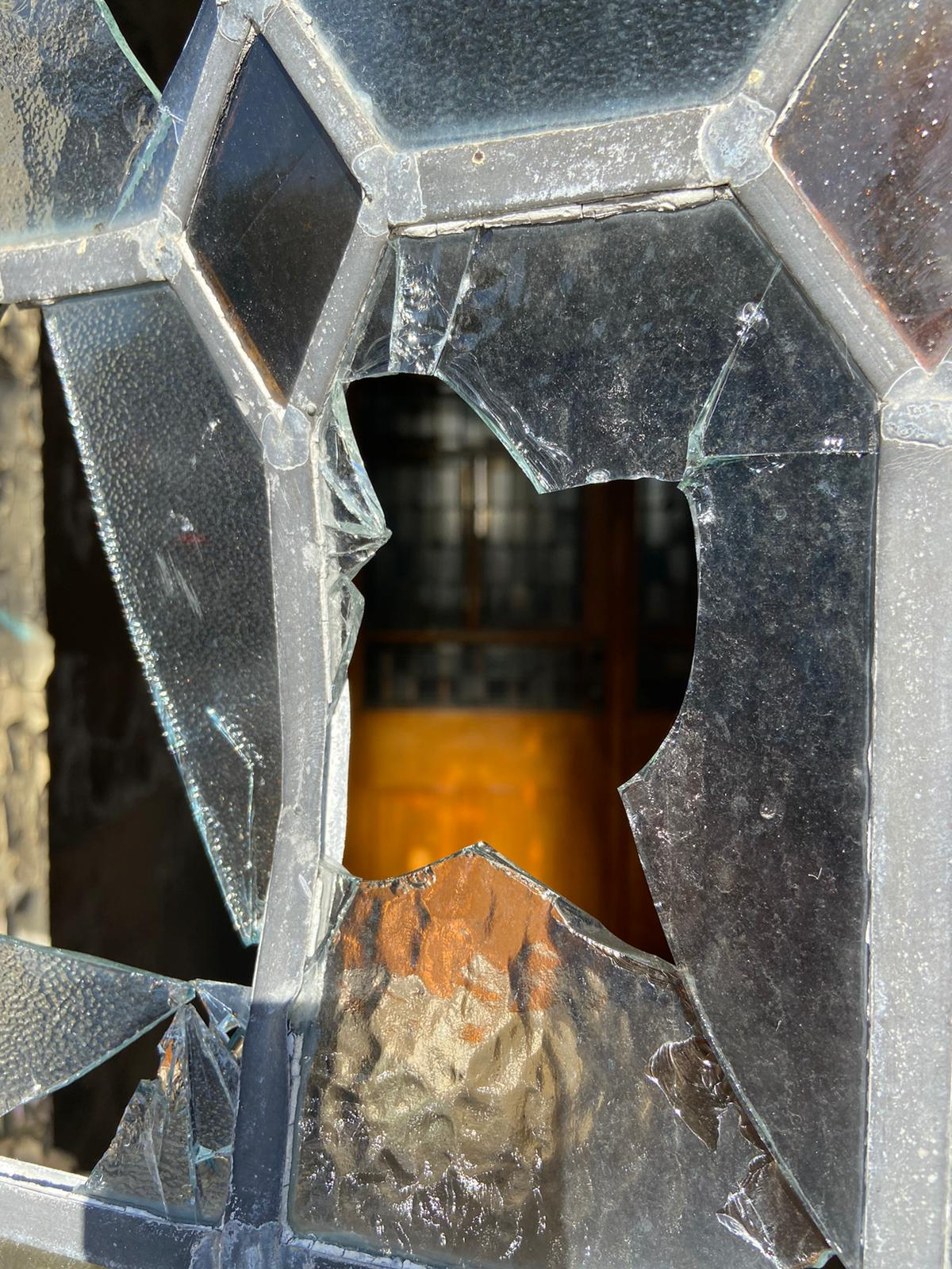 SMASHED: The window at Our Lady\'s Church