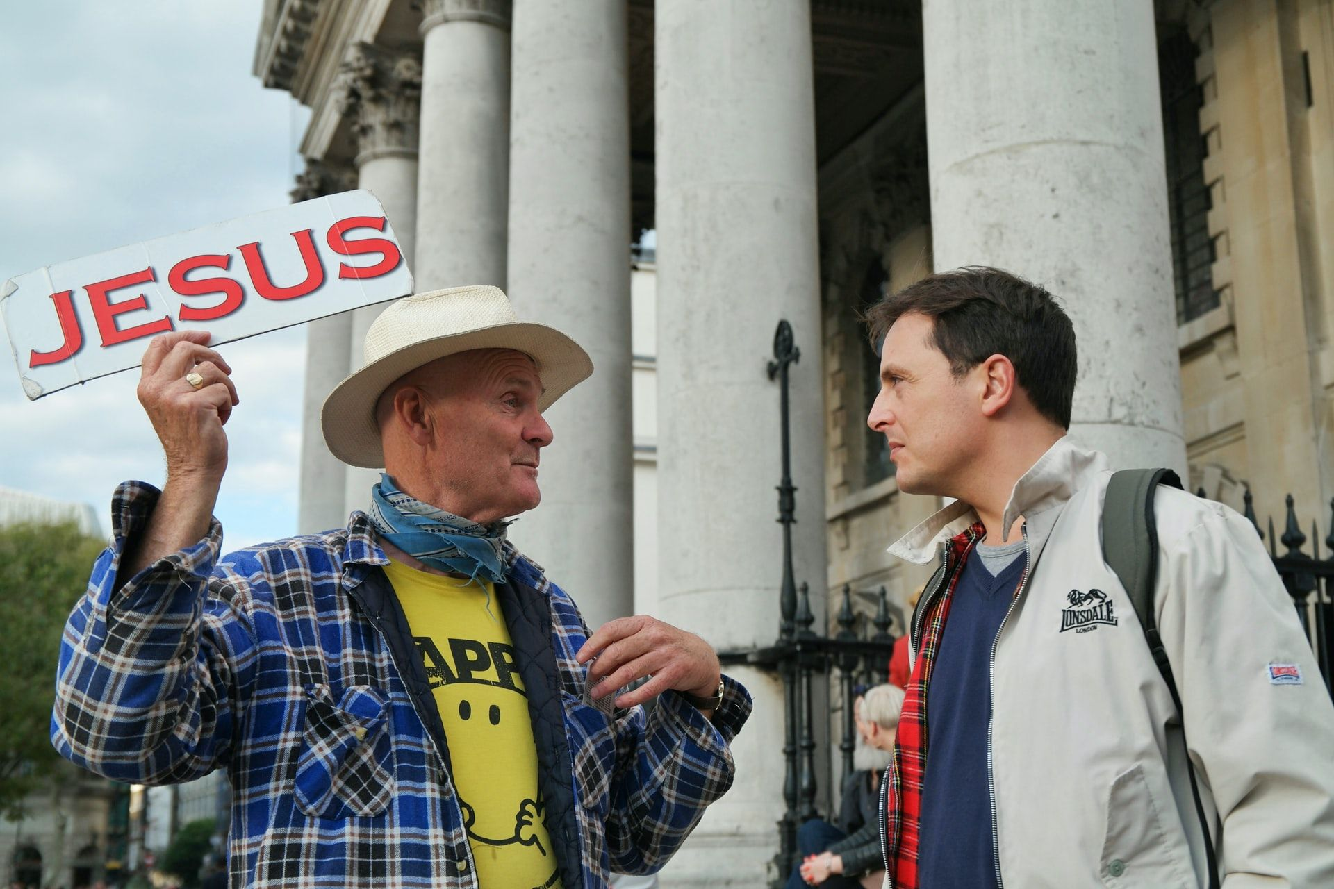 WHAT MESSAGE ARE WE SENDING OUT: A street preacher in Trafalger Square