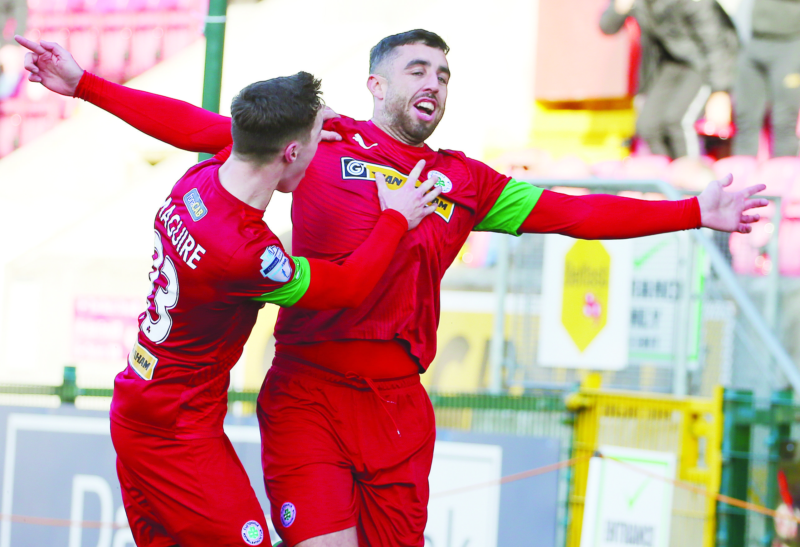 Joe Gormley scored four times in Cliftonville's win over Dundela at Solitude on Tuesday night
