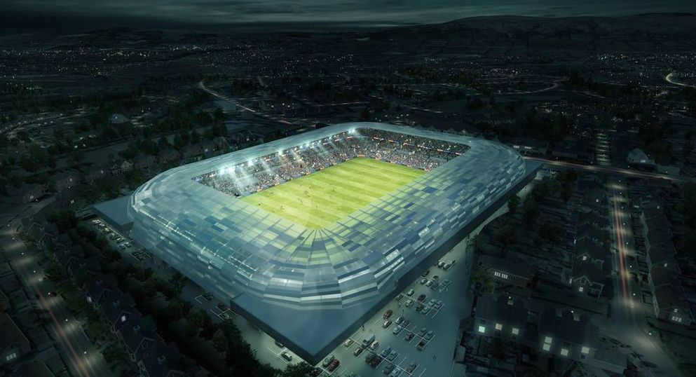 Artists impression of the new Casement Park