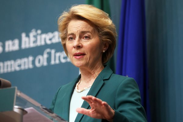 TALKS GO ON: British have told  EU negotiators not to bother turning up for talks but EU Commission President Ursula Von Der Leyen says delegation will turn up in London