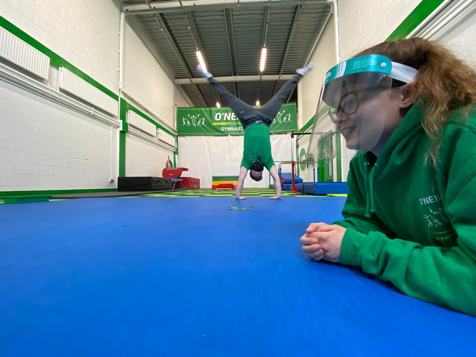 NEW PROTOCOLS: Laoise Ferris and Pearce O\'Neill of O\'Neill Gymnastics are preparing to adjust to new Covid restrictions