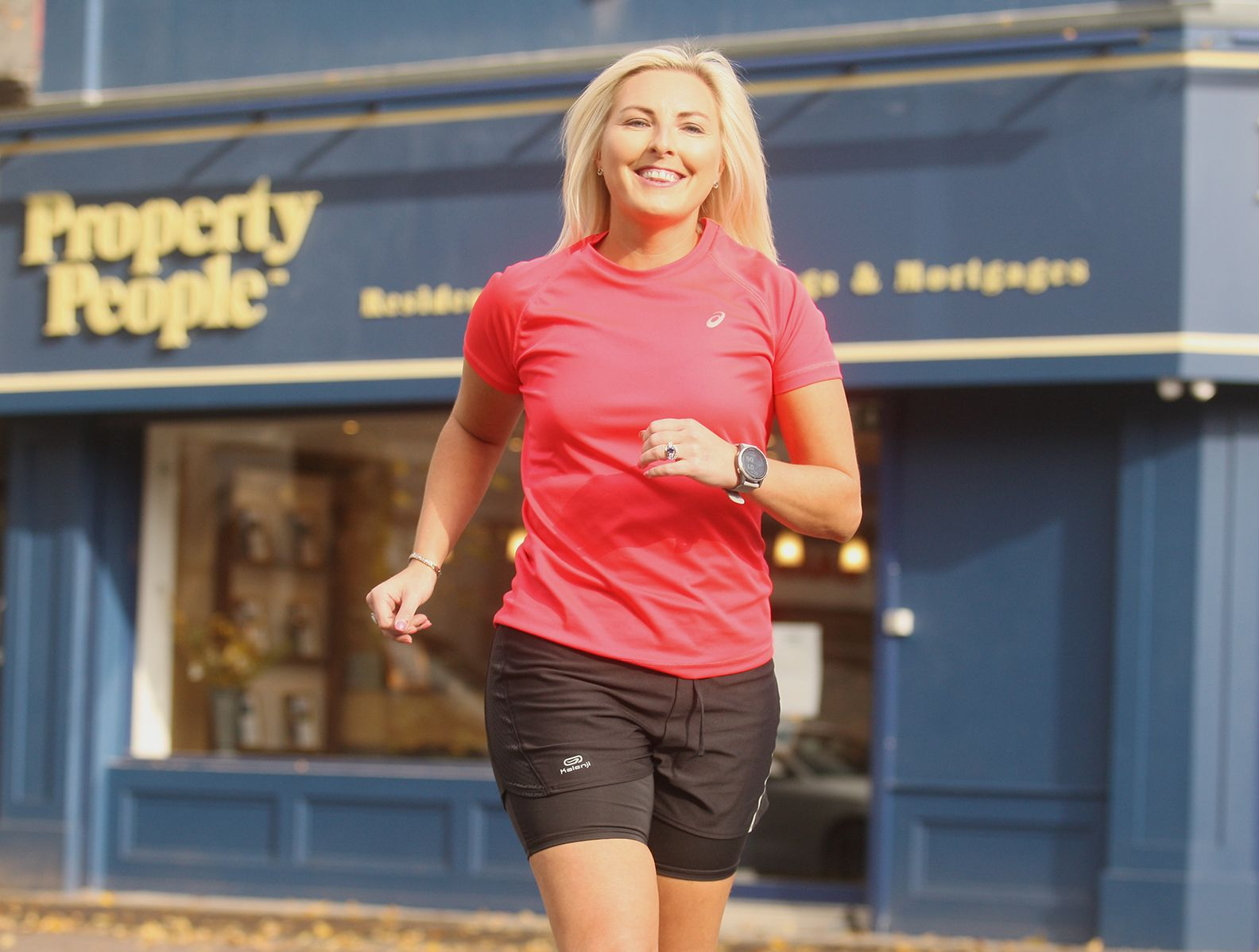 ON YOUR MARKS: Allison Steenson is getting ready for her charity run