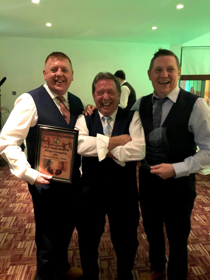 Harry Cunningham Snr with his sons Harry Jnr (left) and Liam (right)