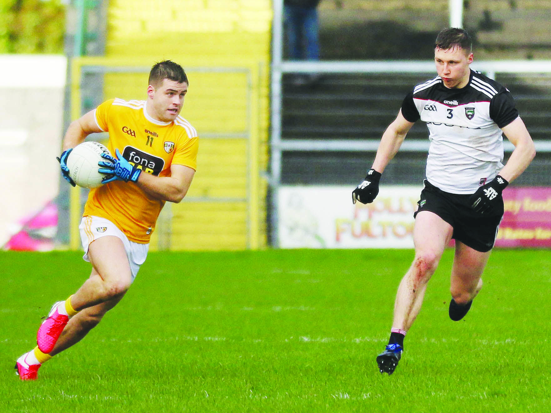 Paddy McBride insists Antrim's footballers must think of nothing less than victory on Saturday and not be left relying on other results going their way