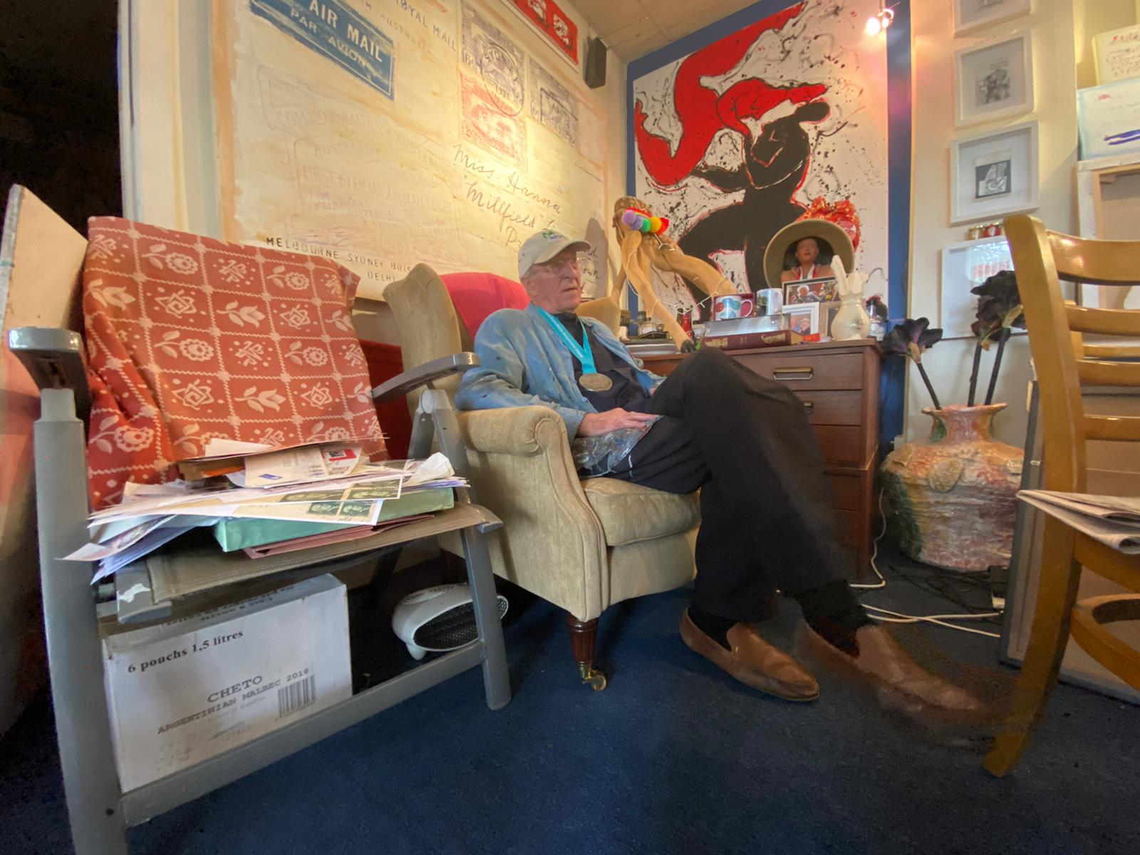 THE ARTS ARE THE BEST: Neil Shawcross in his South Belfast Studio