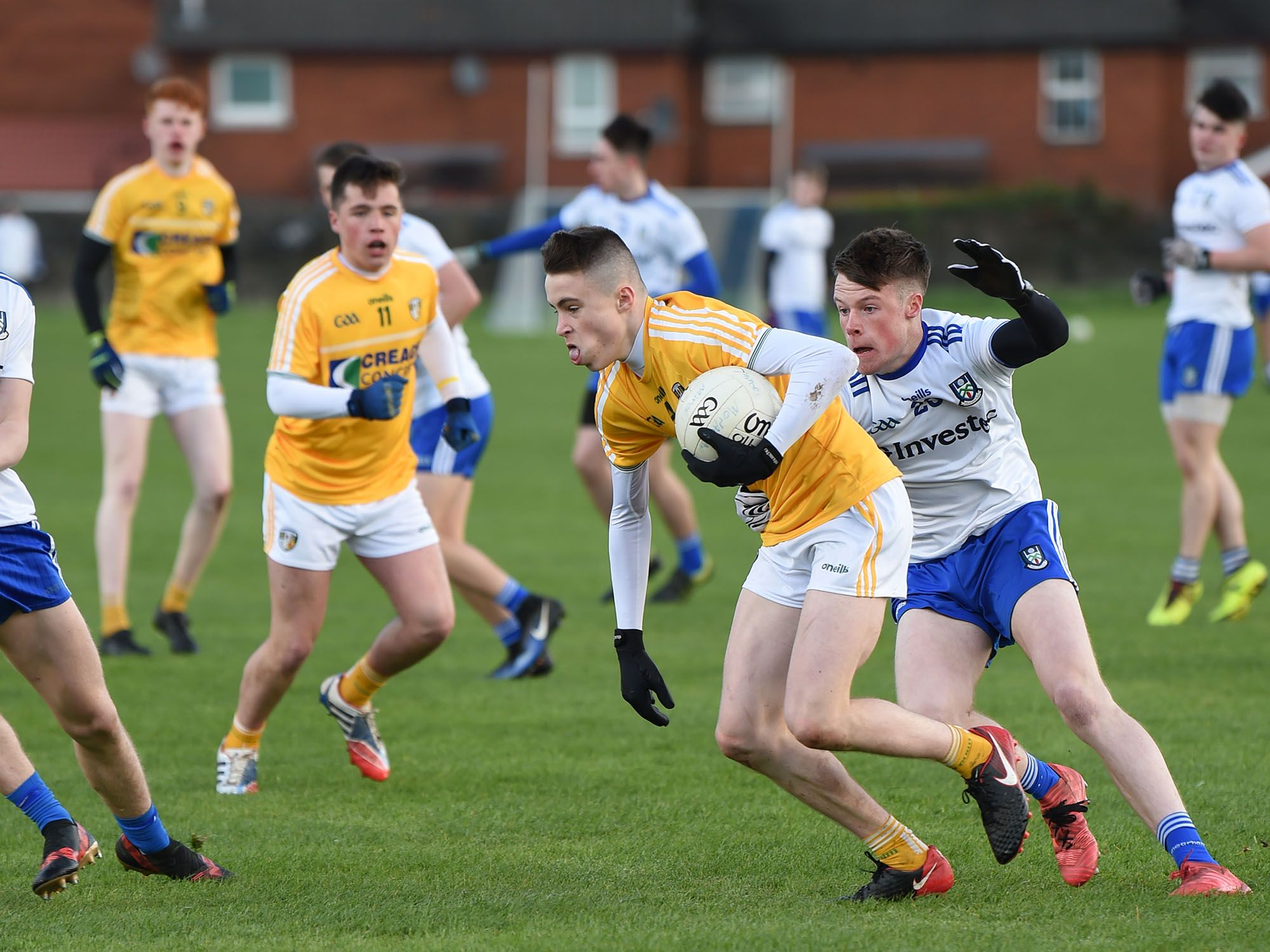 Antrim lost out to Monaghan last year by one point in a low-scoring affair and were due to meet in Toome this weekend, but the game has been postponed until further notice due to Level Five restrictions
