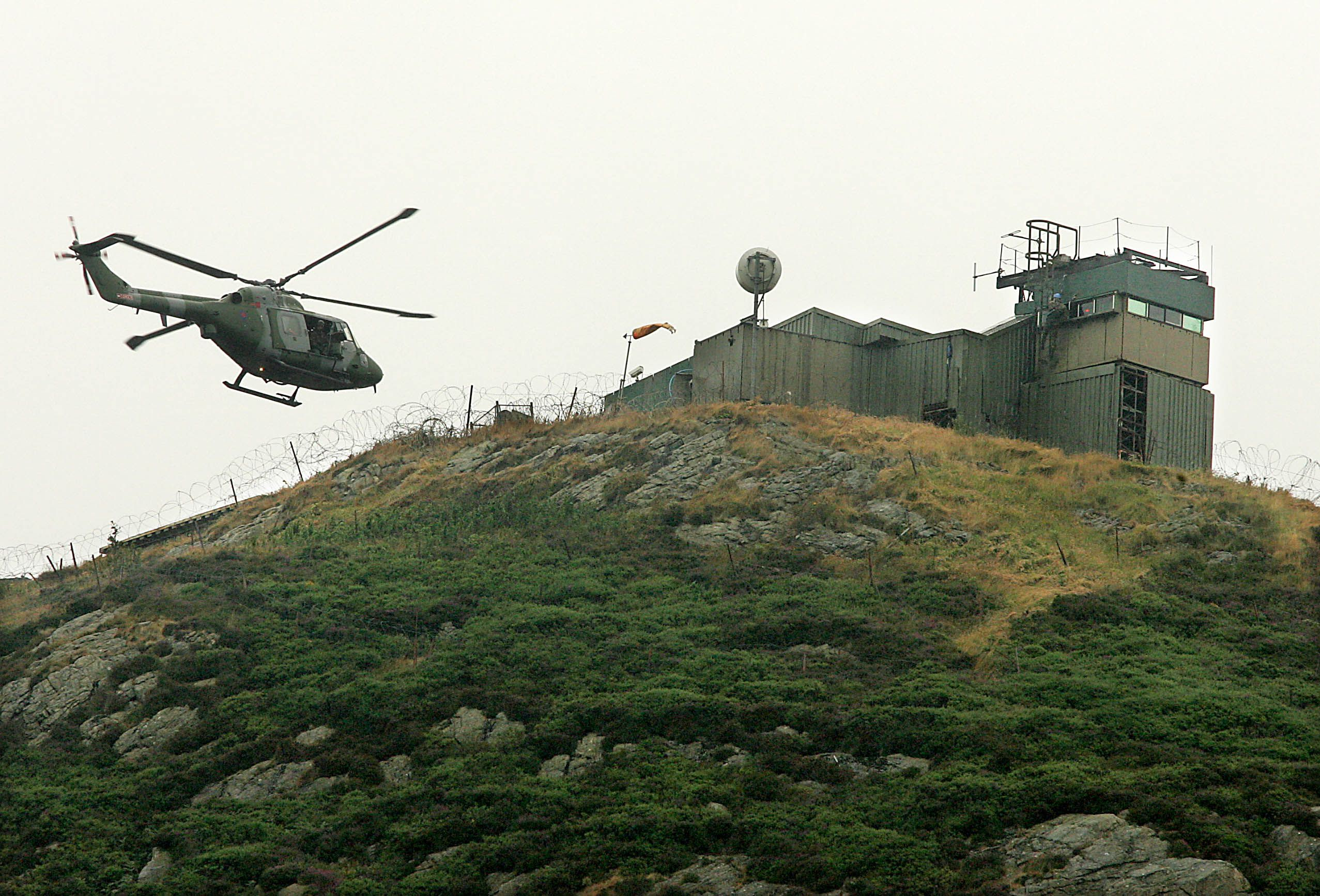 SURVIVOR: A British Army ferries supplies to a base atop Tuppenny Mountain in South Armagh