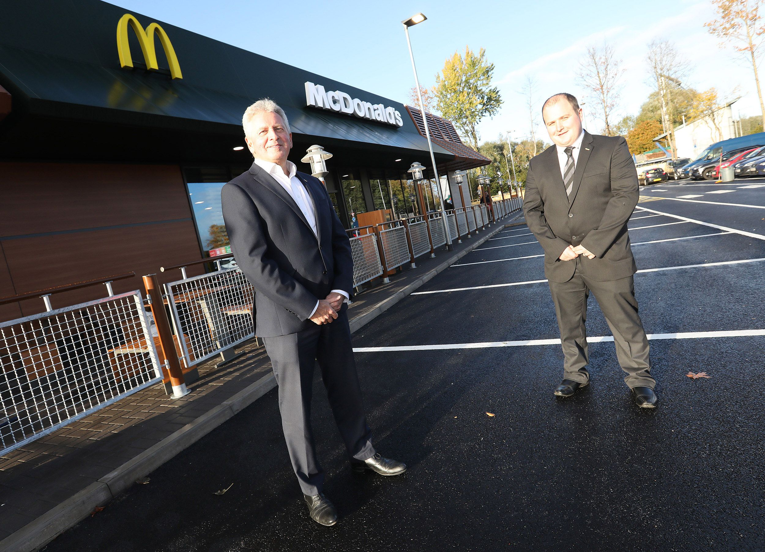 OPEN FOR BUSINESS: McDonald's Colin franchisee John McCollum and Business Manager Gavin Doran