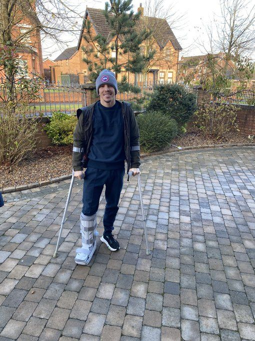Michael Conlan returned home sporting a protective boot after he ruptured his ATFL in training this week