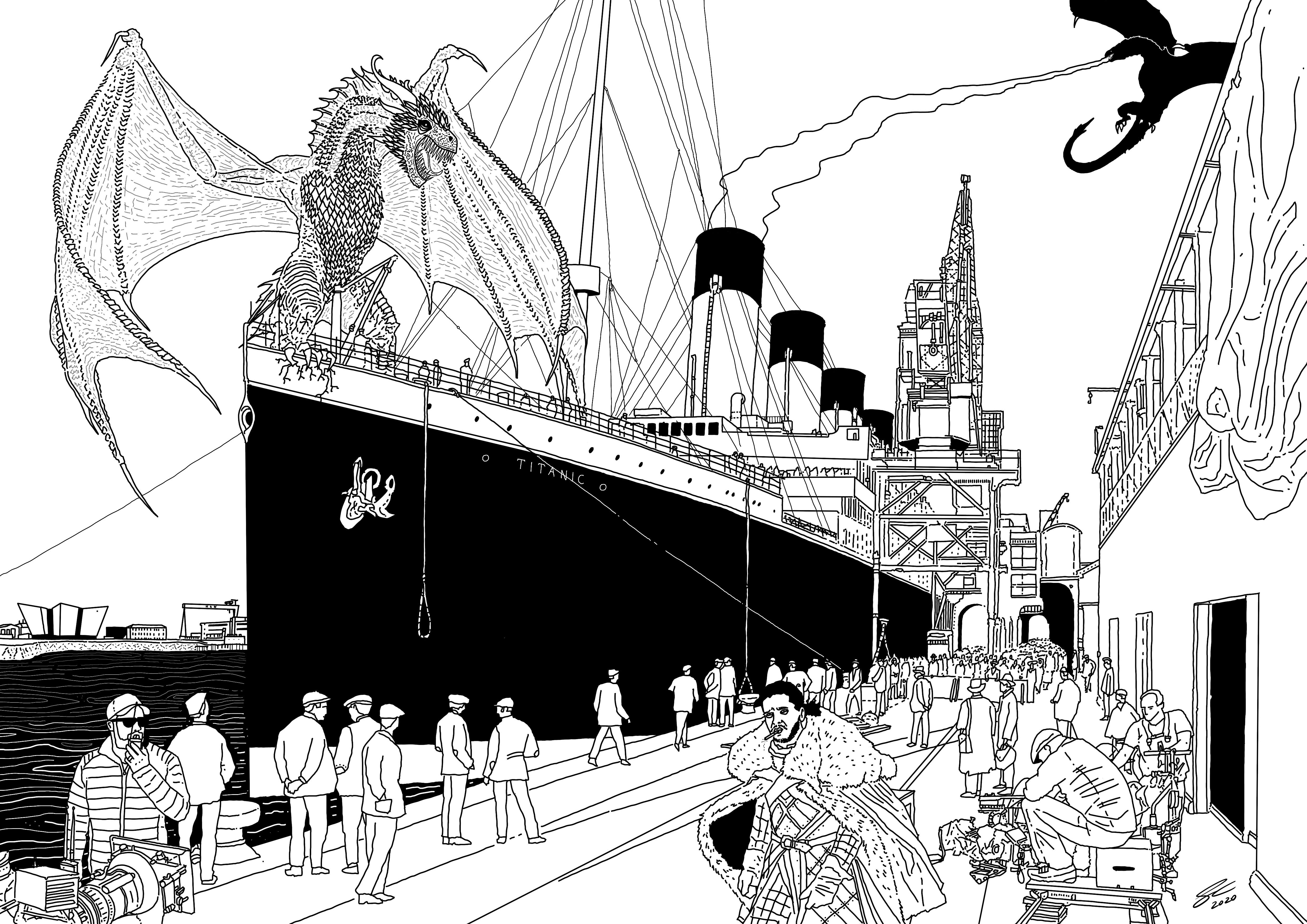 SINKING SHIP: Illustration by Benji Connell from Belfast Design Festival