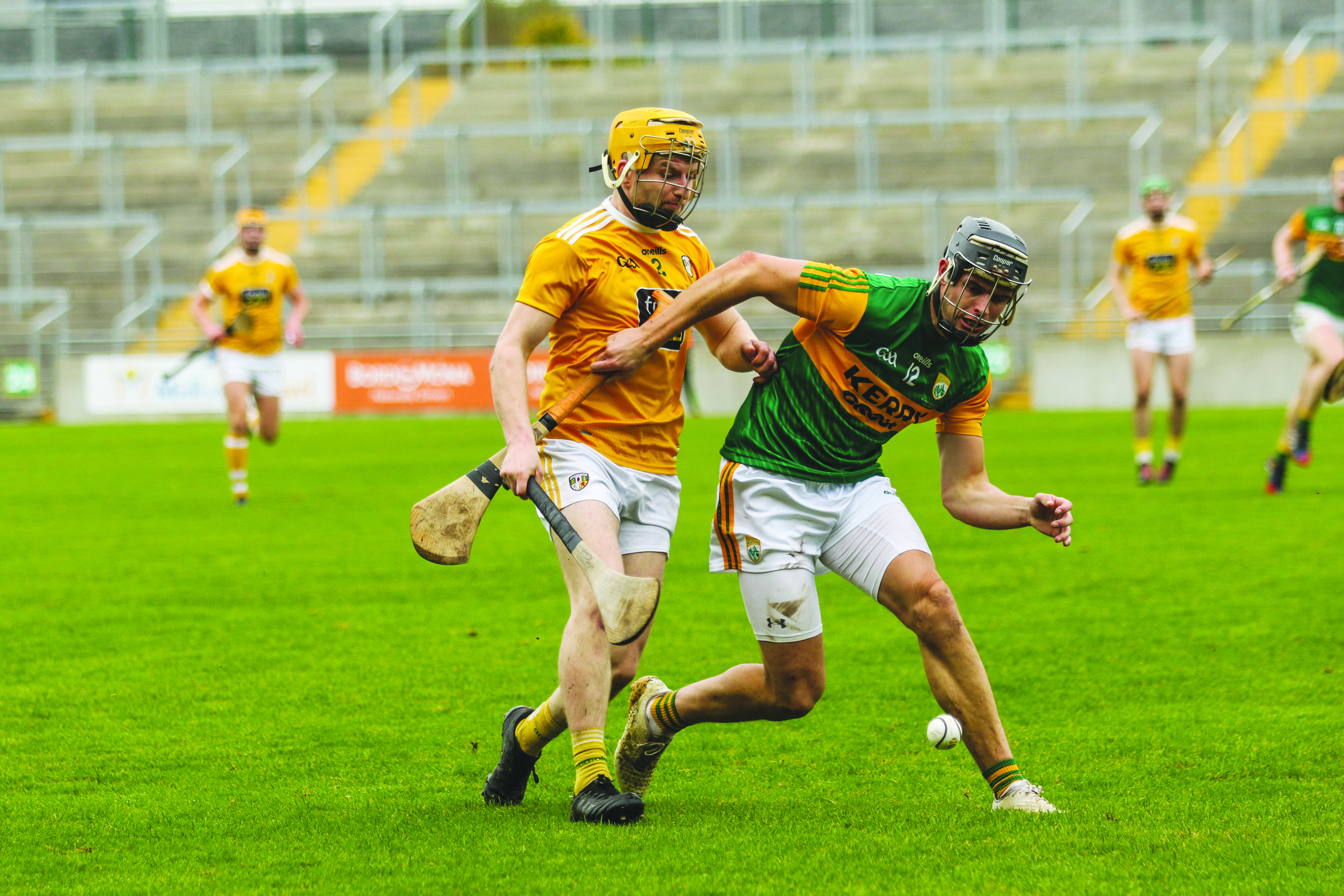 Antrim have beaten Kerry twice this year, including last month's Division 2A League final (pictured) but manager Darren Gleeson warns the Munster men will be a much more difficult proposition when they visit Corrigan Park onSaturday