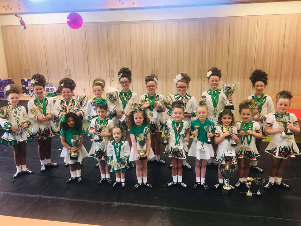 CLARITY CALL: Some of the young Irish dancers from Lawrenson-Toal Academy of Irish Dance