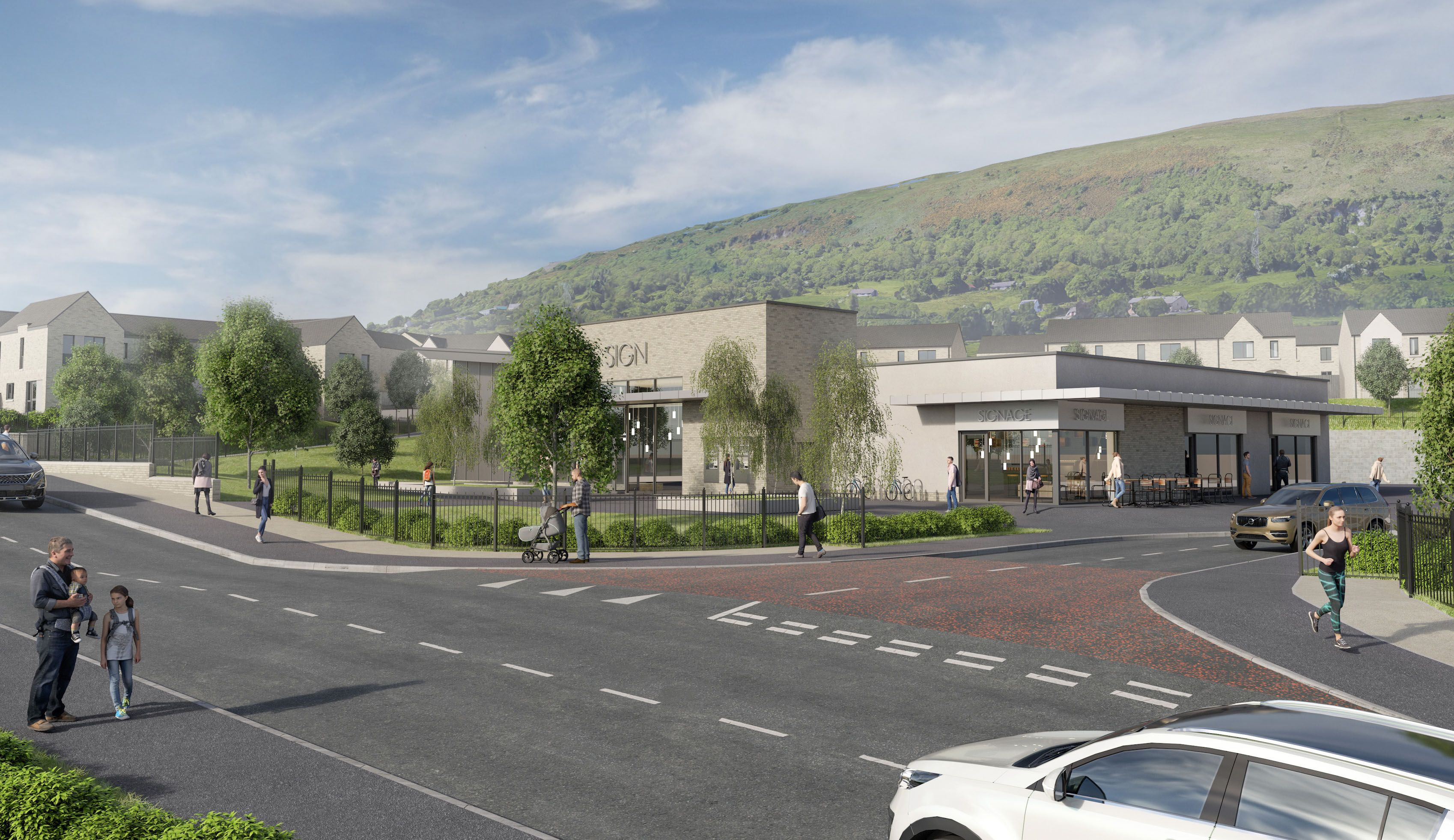 DEVELOPMENT: How the new homes will look on the Glen Road