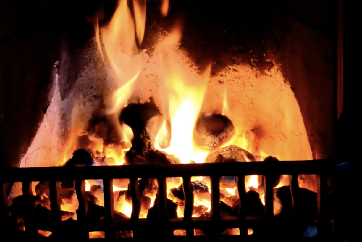 WARM MEMORIES: A big December coal delivery meant the fire would be a roaring one at Christmas