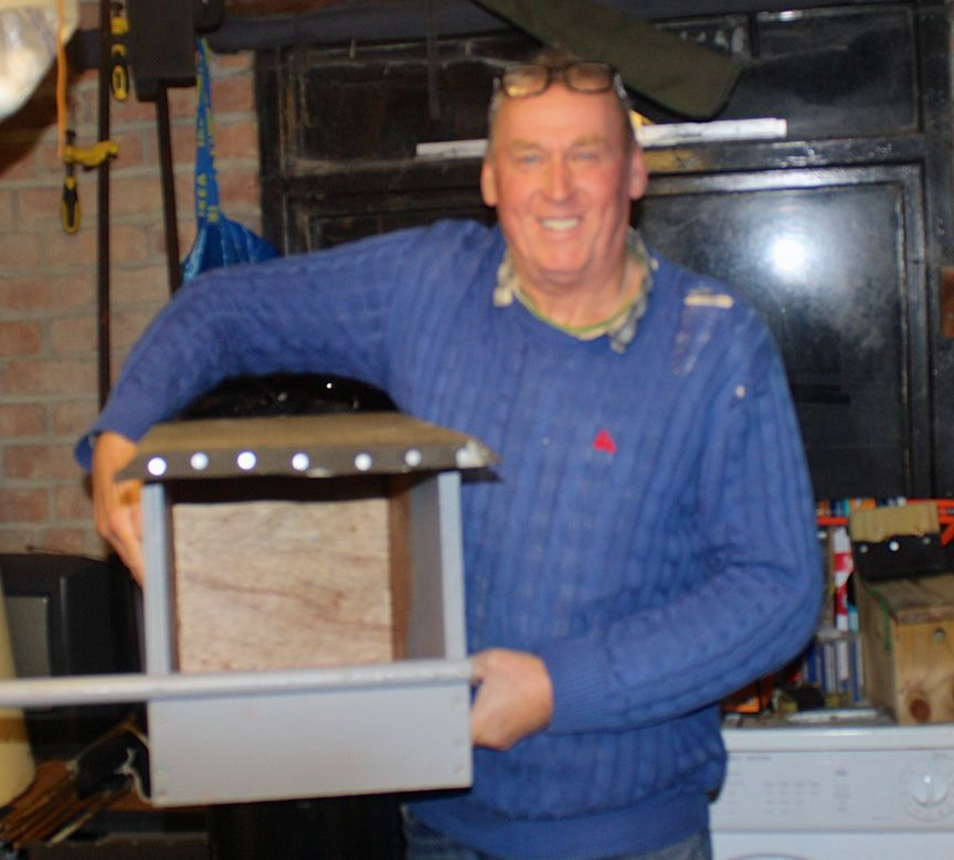 HOME FROM HOME: Andy Graham with one of the new nestboxes that he has made