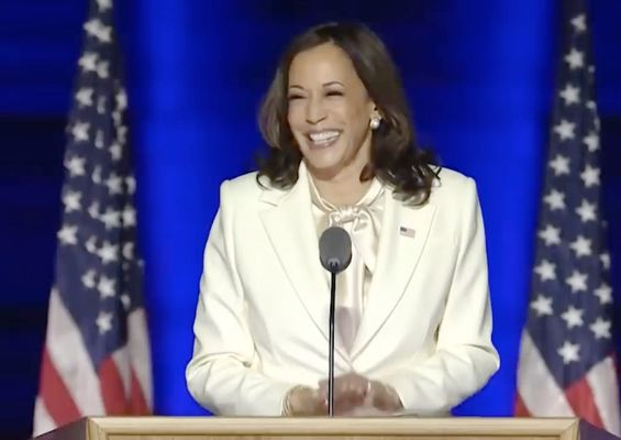 Cropped kamala harris