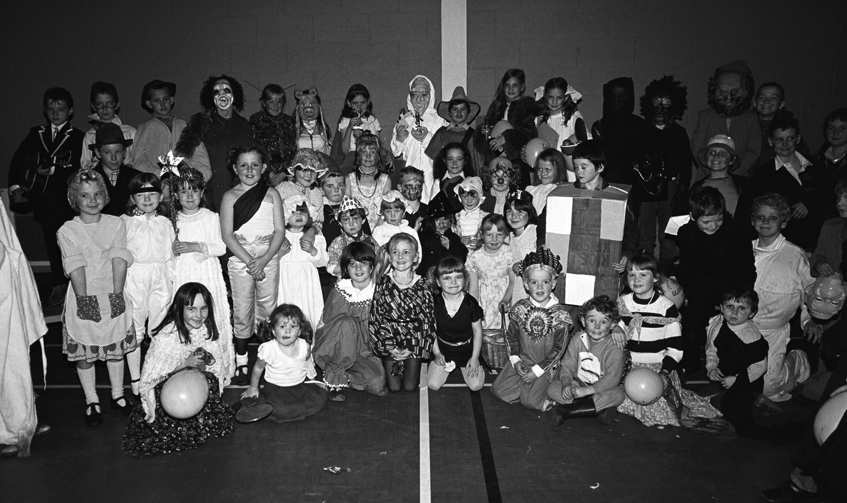 Twinbrook children\'s Halloween fancy dress party in Brooke Activity Centre