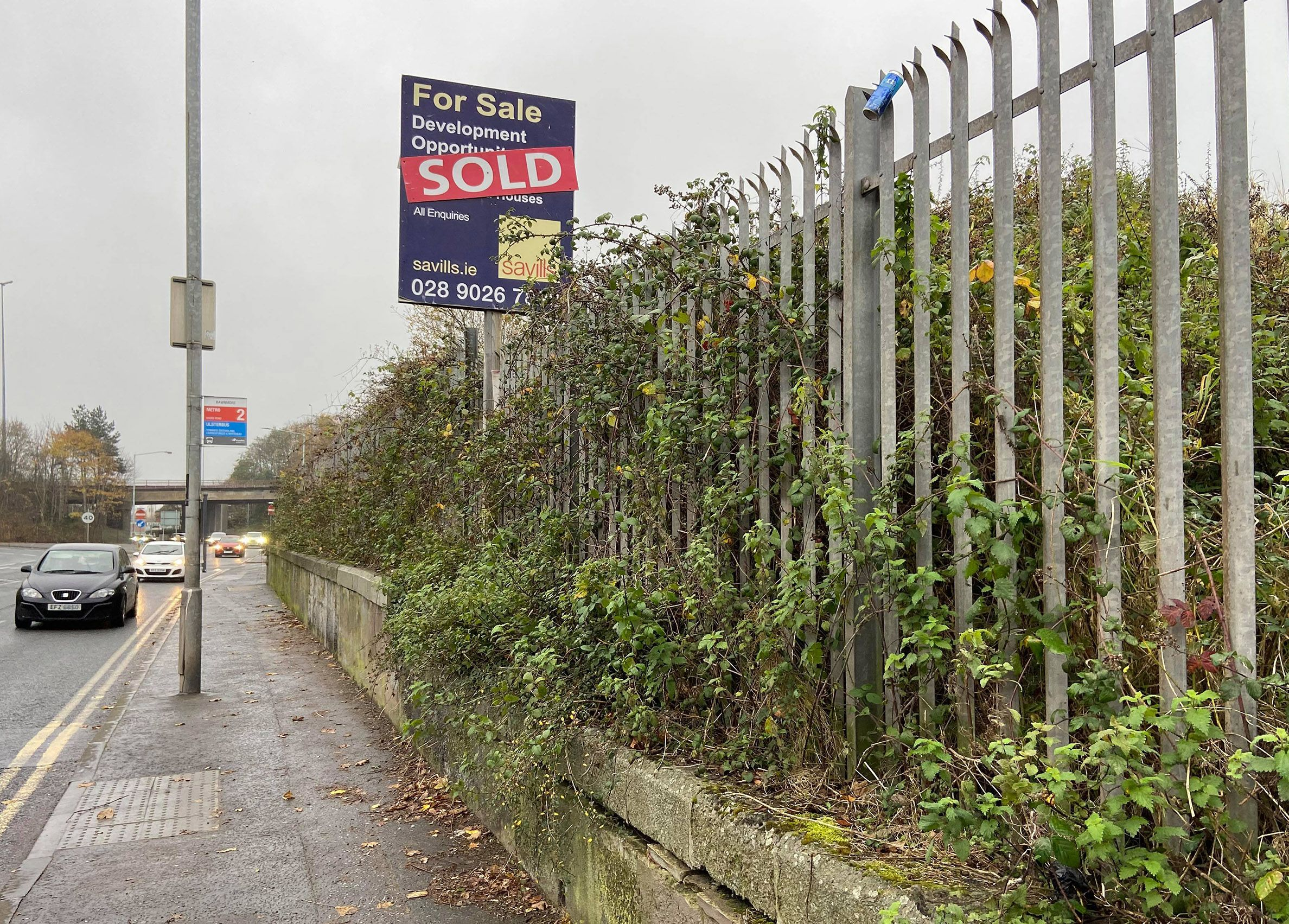 SOCIAL HOUSING: The vacant site on the Shore Road