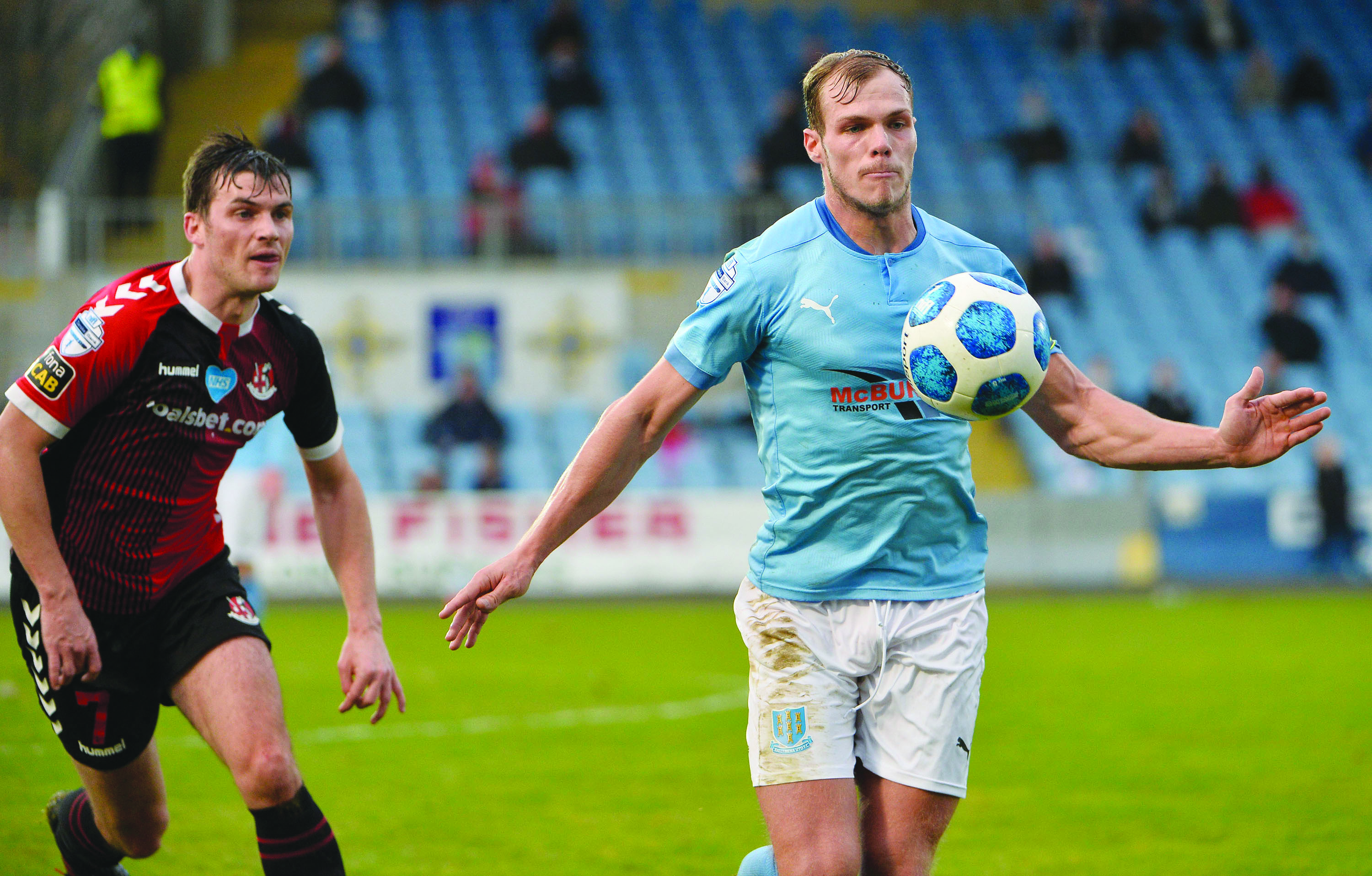 Leroy Millar completed the rout for Ballymena United at Solitude on Tuesday