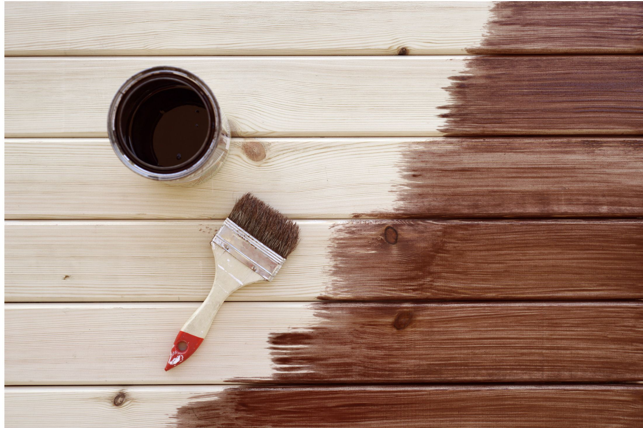 FENCE STAINER: It takes meticuolous planning to paint a fence or a garden table
