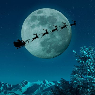 Cropped moon santa