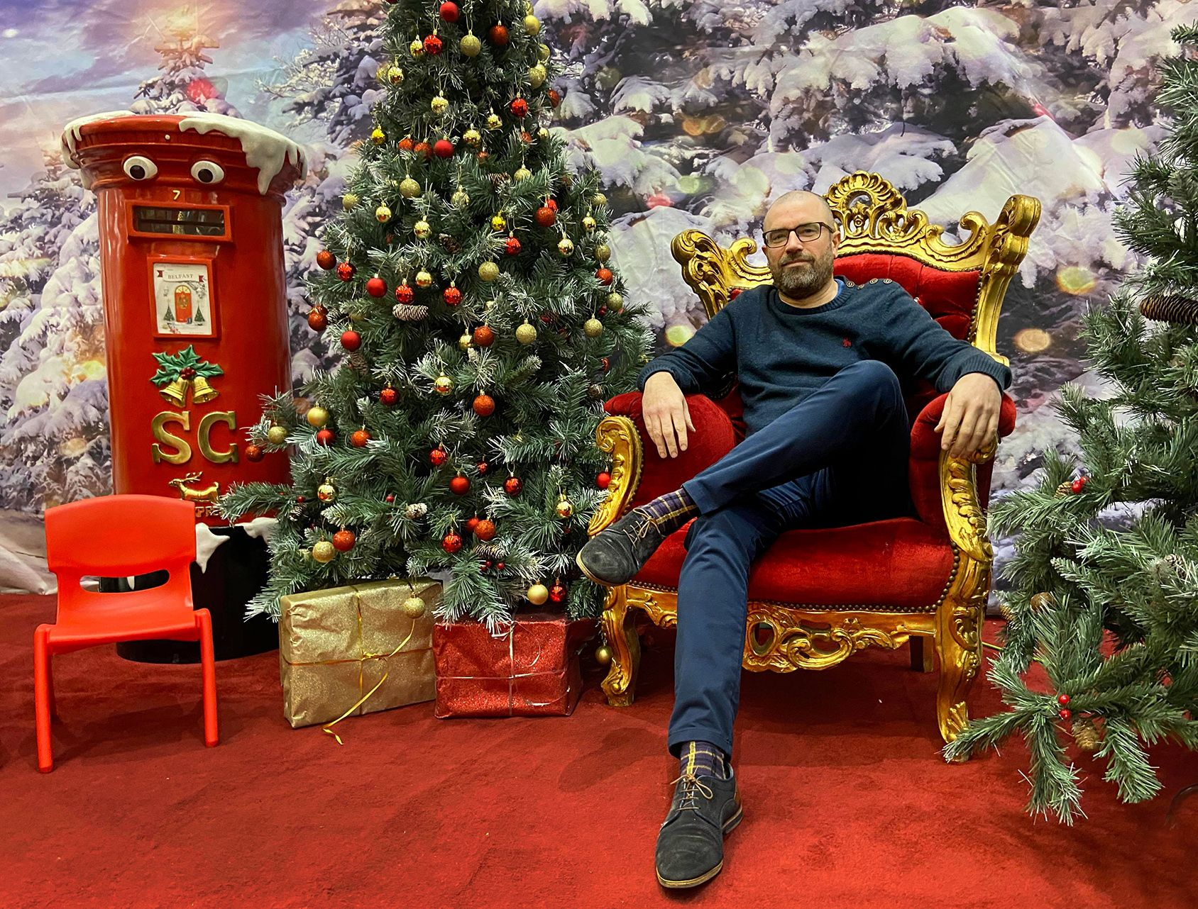 Fáilte: John Jones, Manager of the Kennedy Centre, will be a busy man in the run up to Christmas
