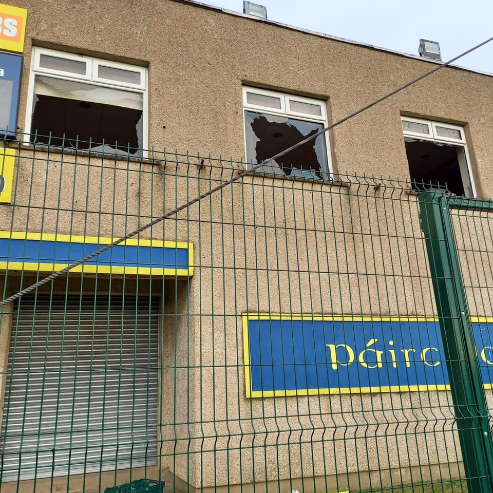 CONDEMNED: The attack on the clubhouse happened in the early hours of Sunday morning