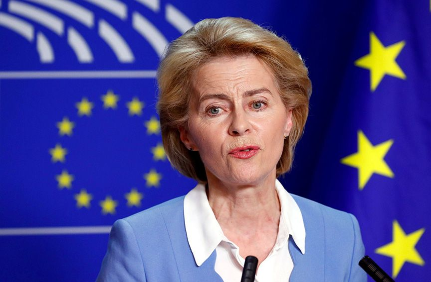 TALKS: Ursula von der Leyen had a series of conversations with British Prime Minister Boris Johnson