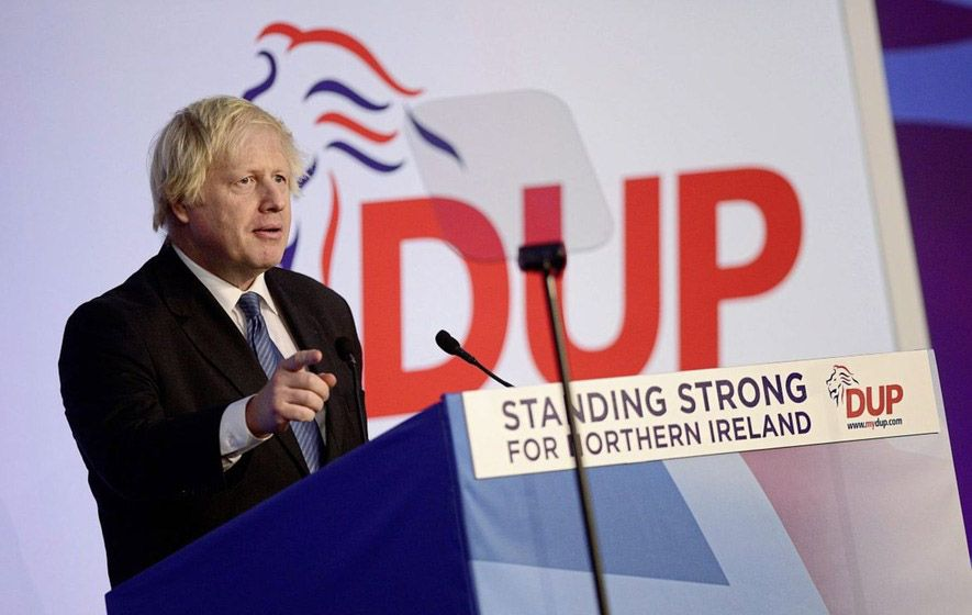 FAMILIAR TALE: The DUPembraced Boris Johnson over Theresa May but were badly betrayed by him