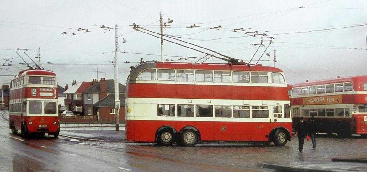 THE GHOST OF CHRISTMAS PAST: The Belfast trolleybus ran for the last time in the 1960s