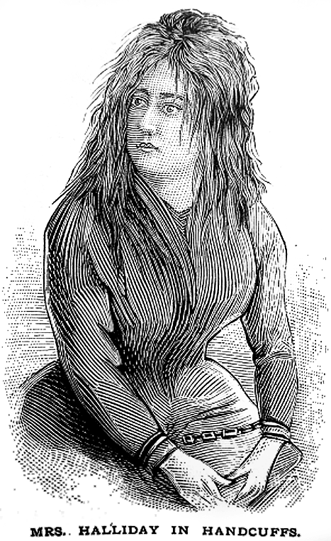 KILLER: A newspaper portrait of Lizzie Halliday from her trial