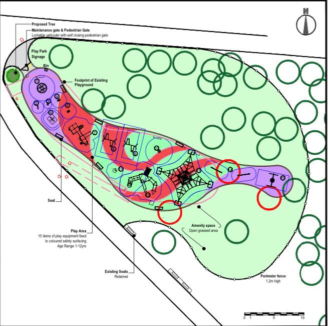 MAJOR WORKS:Plans of how the new playpark at the Falls Park will look next year