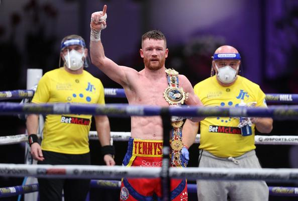 James Tennyson with the Lonsdale Belt