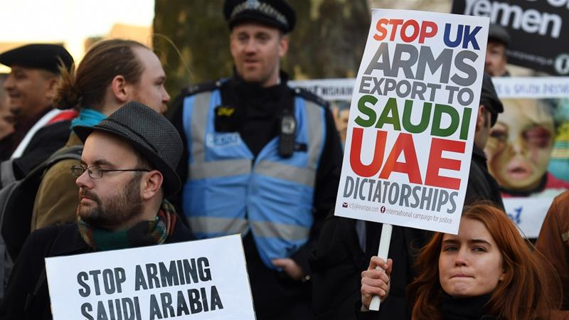 PROTEST: The UKis deeply involved in the war in Yemen