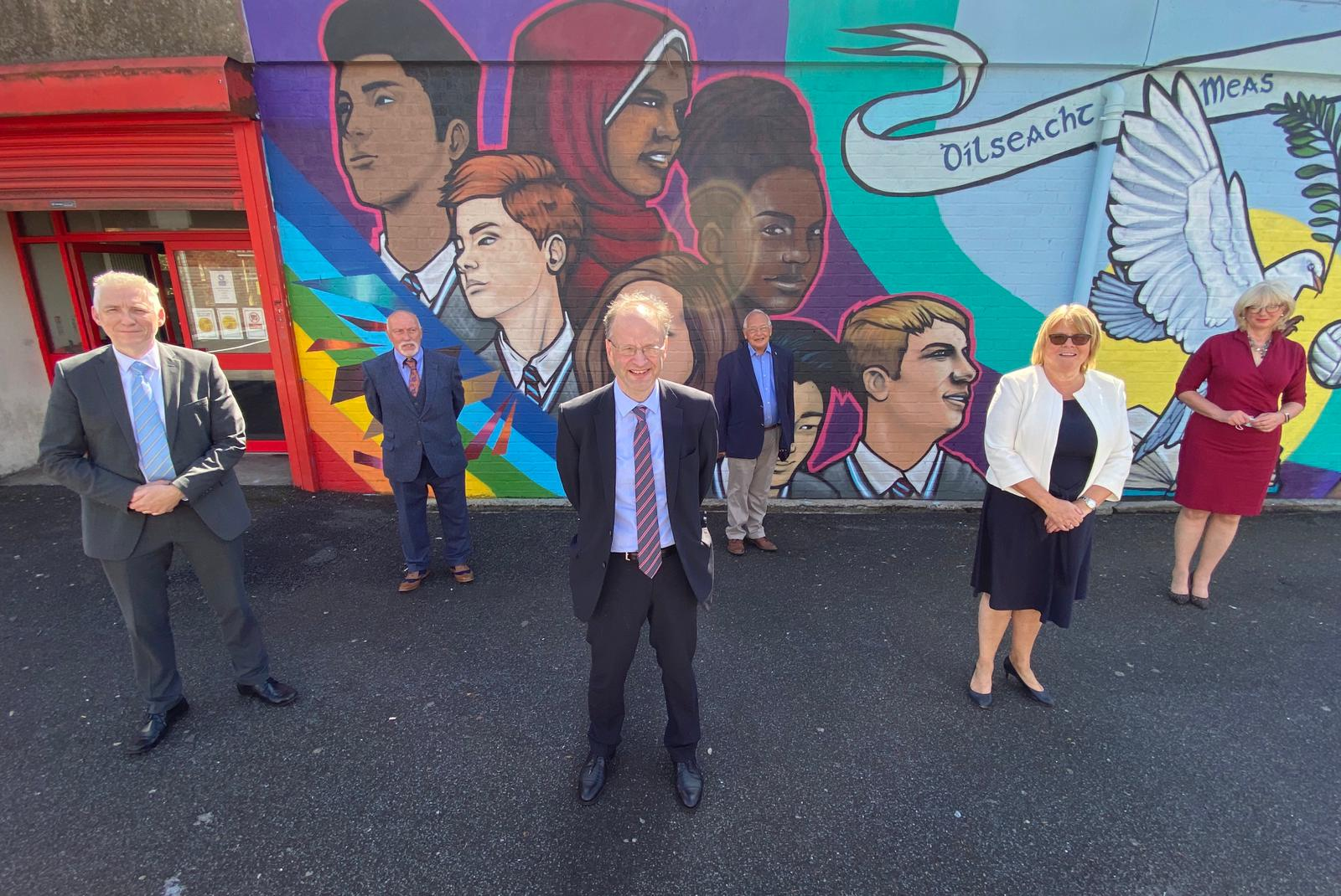 VISIT: Education Minister Peter Weir at All Saints College this week