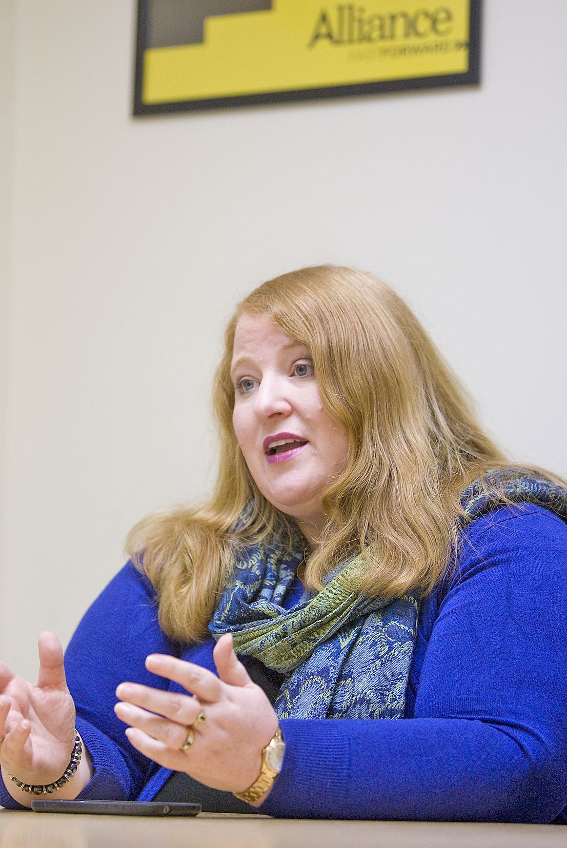 OFFER: Naomi Long told campaigners that her department would take on administrating the victims\' payment scheme