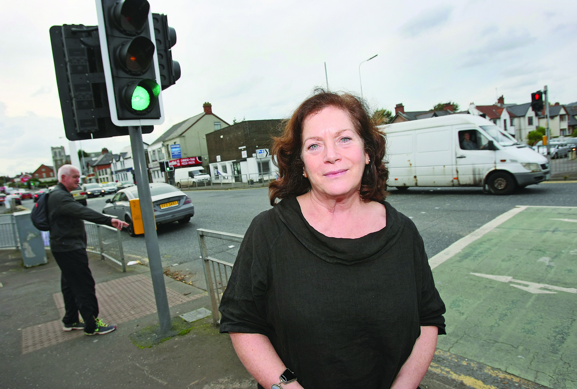 PARAMILITARY UPSURGE: Cllr Geraldine McAteer at Finaghy, where the UDA have been active recently