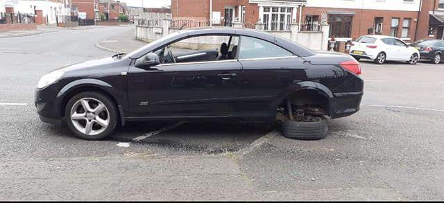 ANGER:A stolen car abandoned in Albert Street in recent weeks
