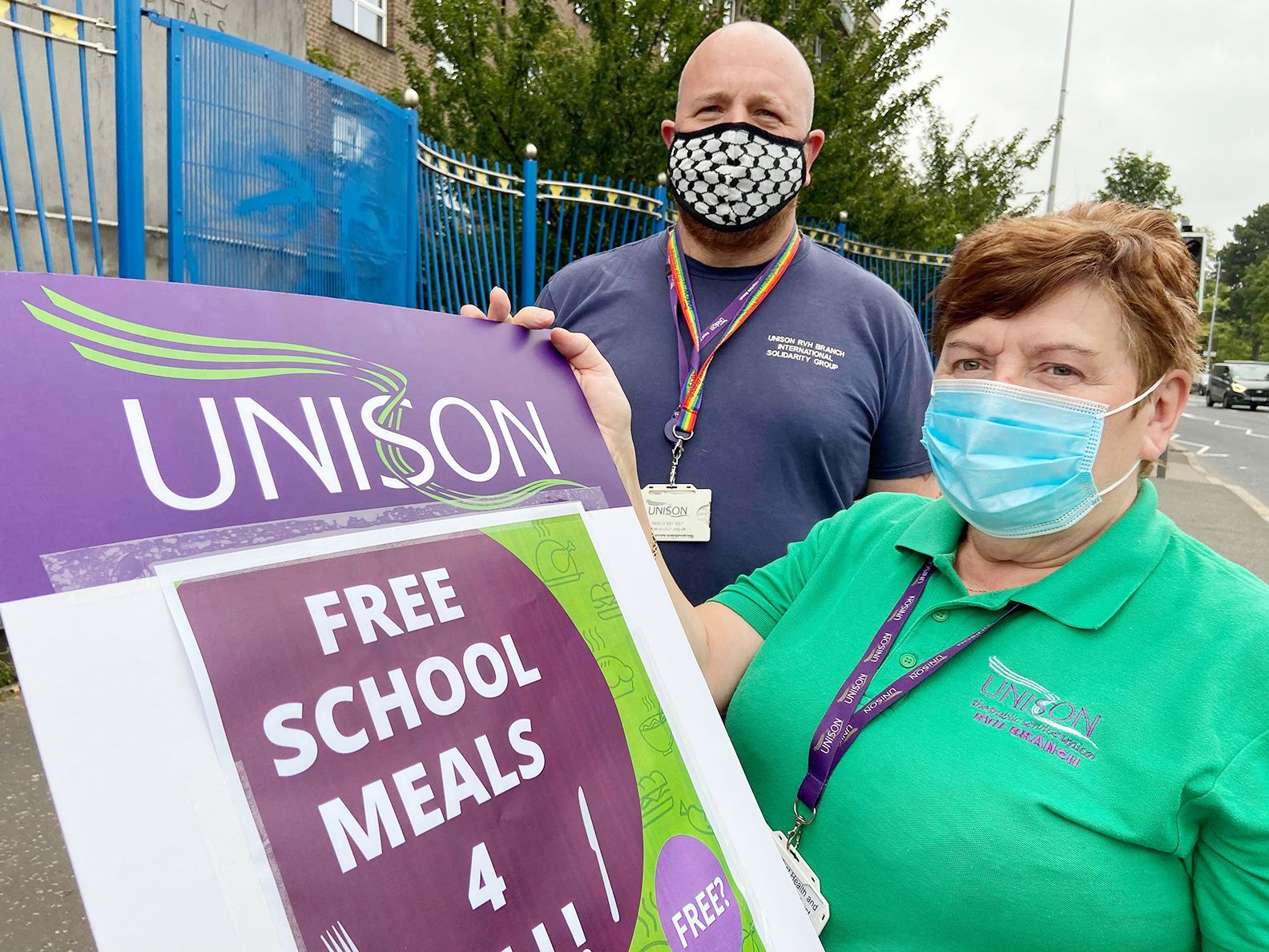 CALL: Unison RVH and Muckamore Branch Secretary Conor McCarthy with Branch Chair Margaret McKee