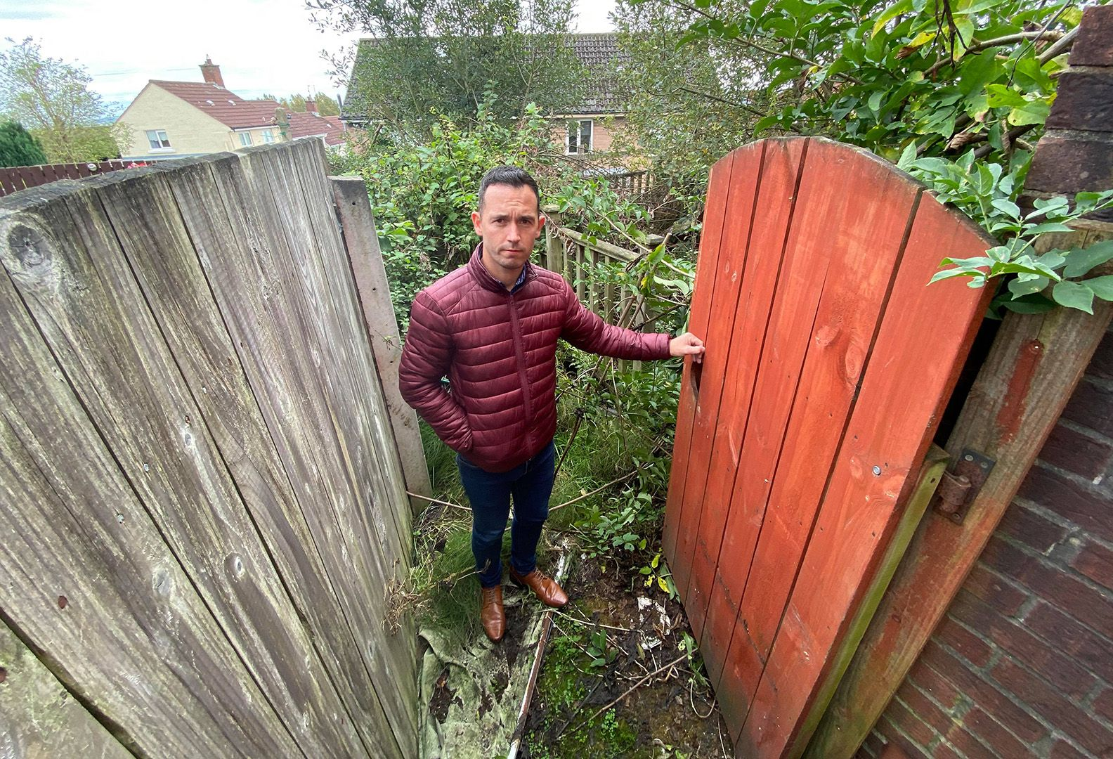 HAZARD: Councillor Michael Donnelly says the derelict house is causing problems for neighbours