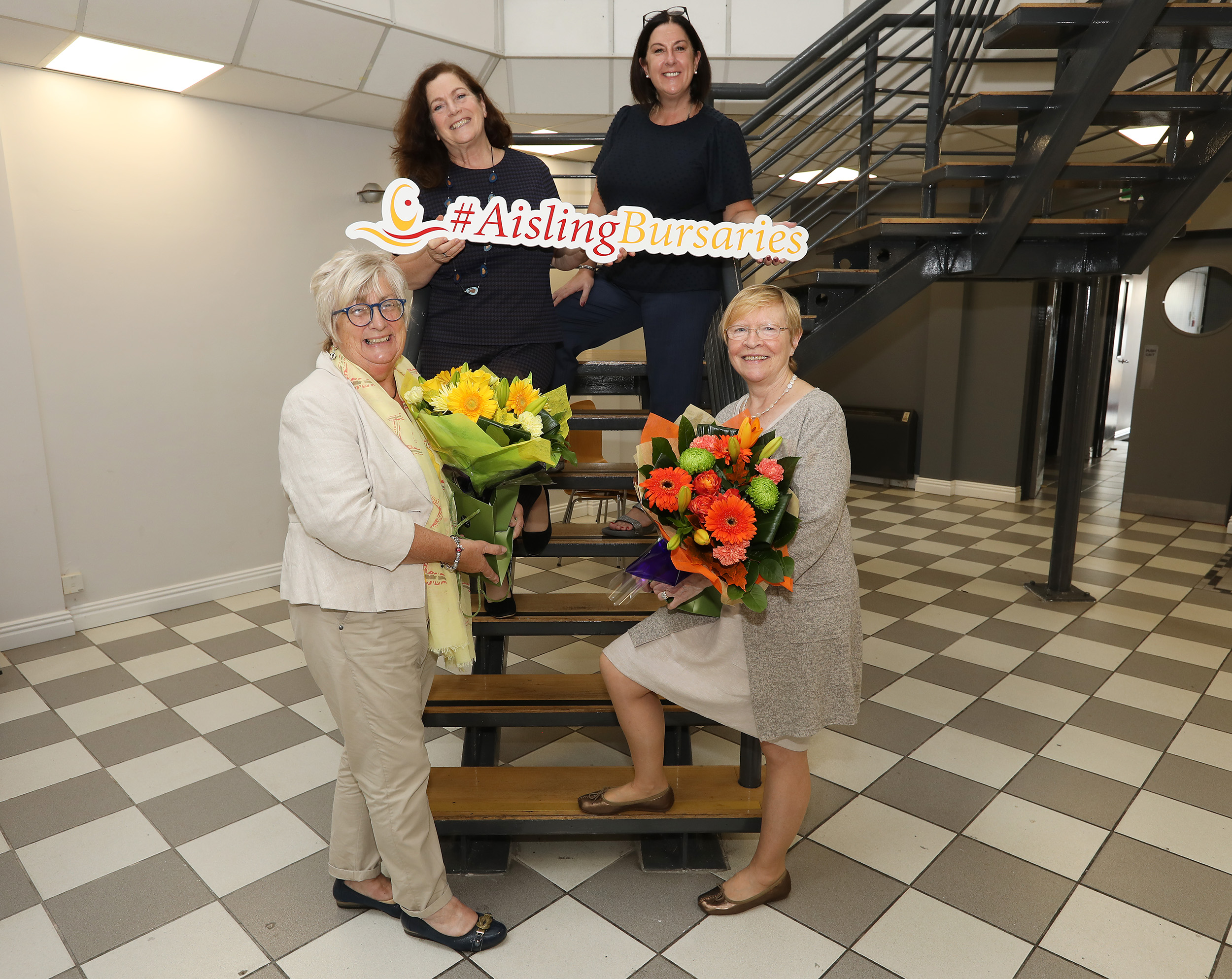 Aisling Bursary judges Monica Culbert and Eilish Rooney with Geraldine McAteer and Angie Mervyn from West Belfast Partnership Board.