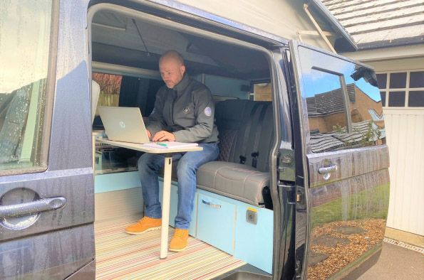 OPTION: The office van is proving a popular and very versatile alternative to the garden shed or pod for those working out of office
