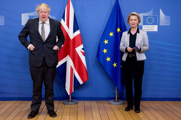WORLDBEATERS OR WASTERS? British PM Boris Johnson with EU Commission President Ursula von der Leyen
