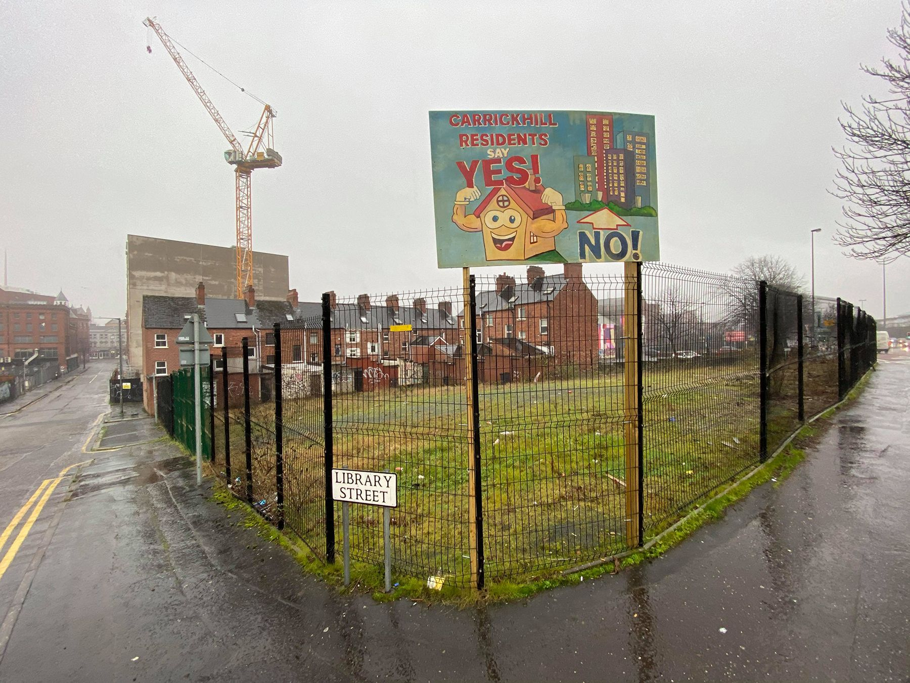 OPPORTUNITY: The land at Library Street which could soon be used for social and affordable housing