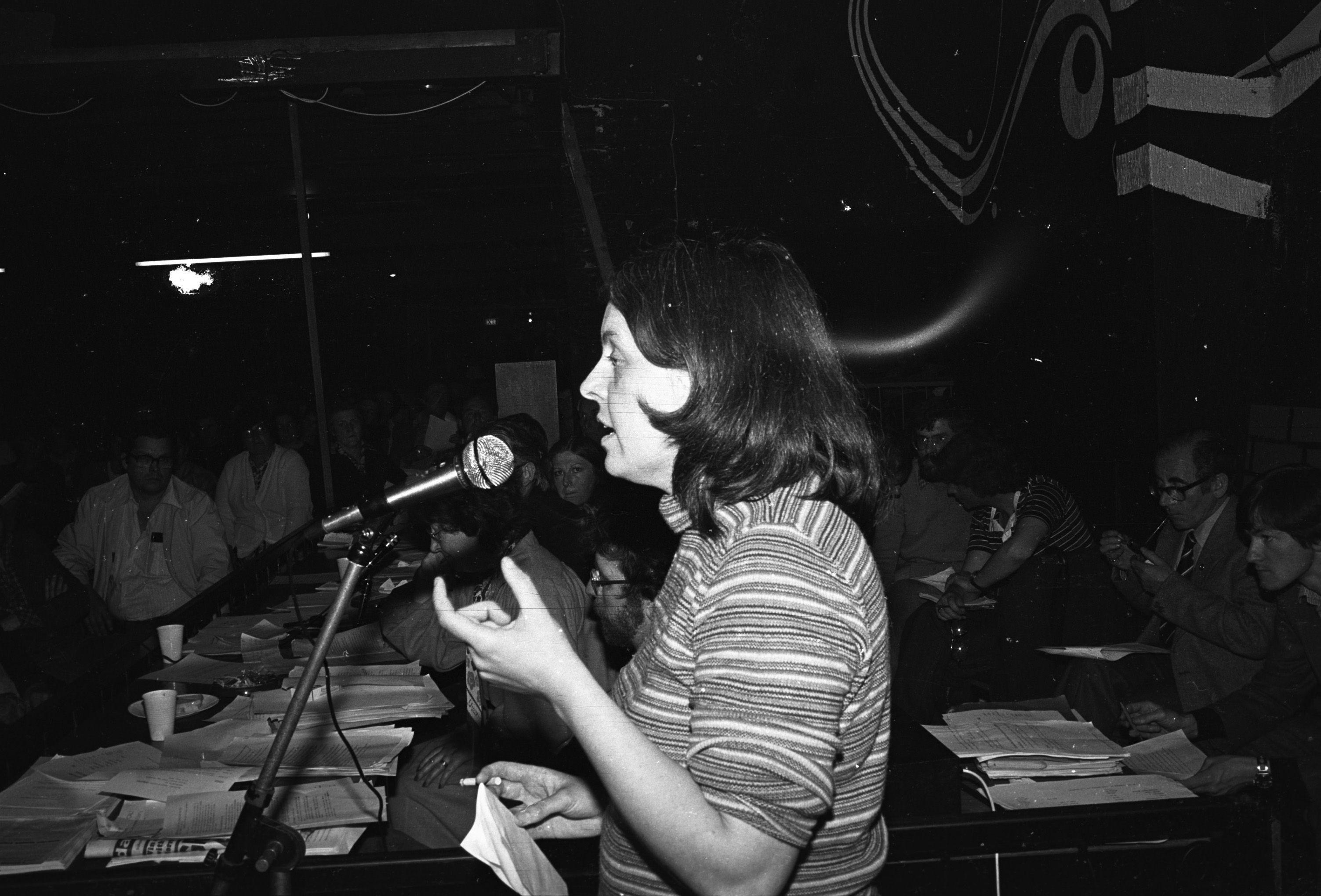 SUPPORT: Bernadette McAliskey speaking at a H-Block Conference in Belfast in June 1980
