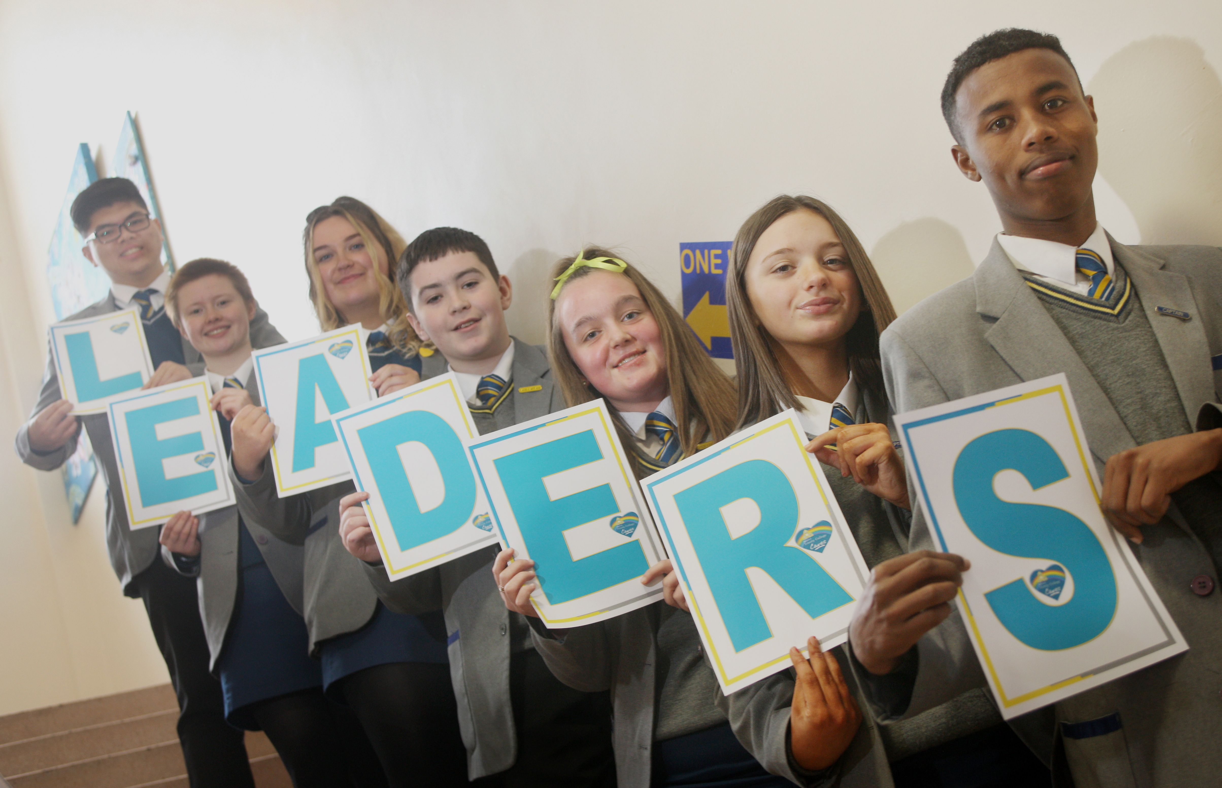 CONGRATS: Blessed Trinity College pupils celebrate the award