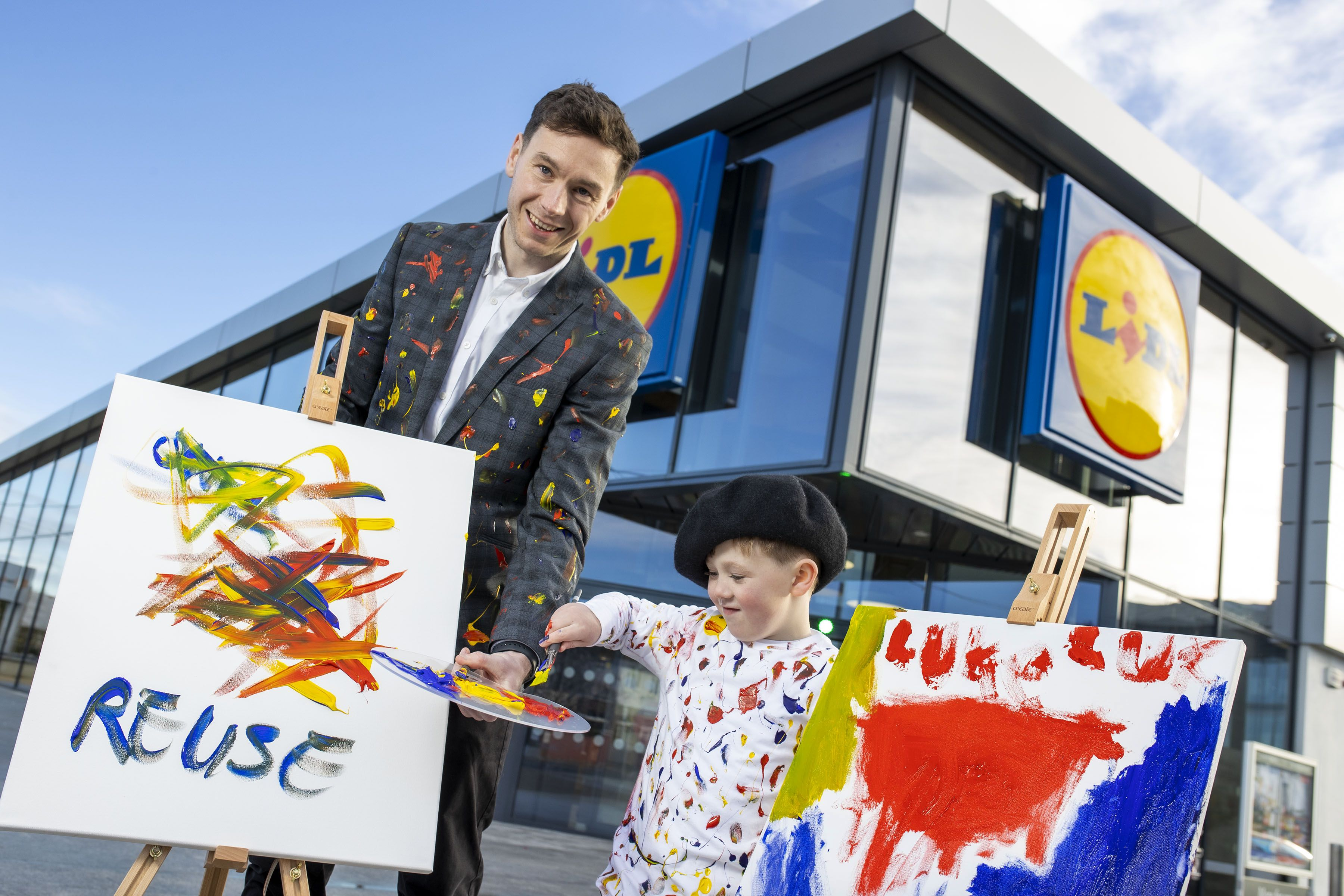 LAUNCH: Luke Lewis, aged 5 and Owen Keogh, Head of CSR at Lidl Ireland