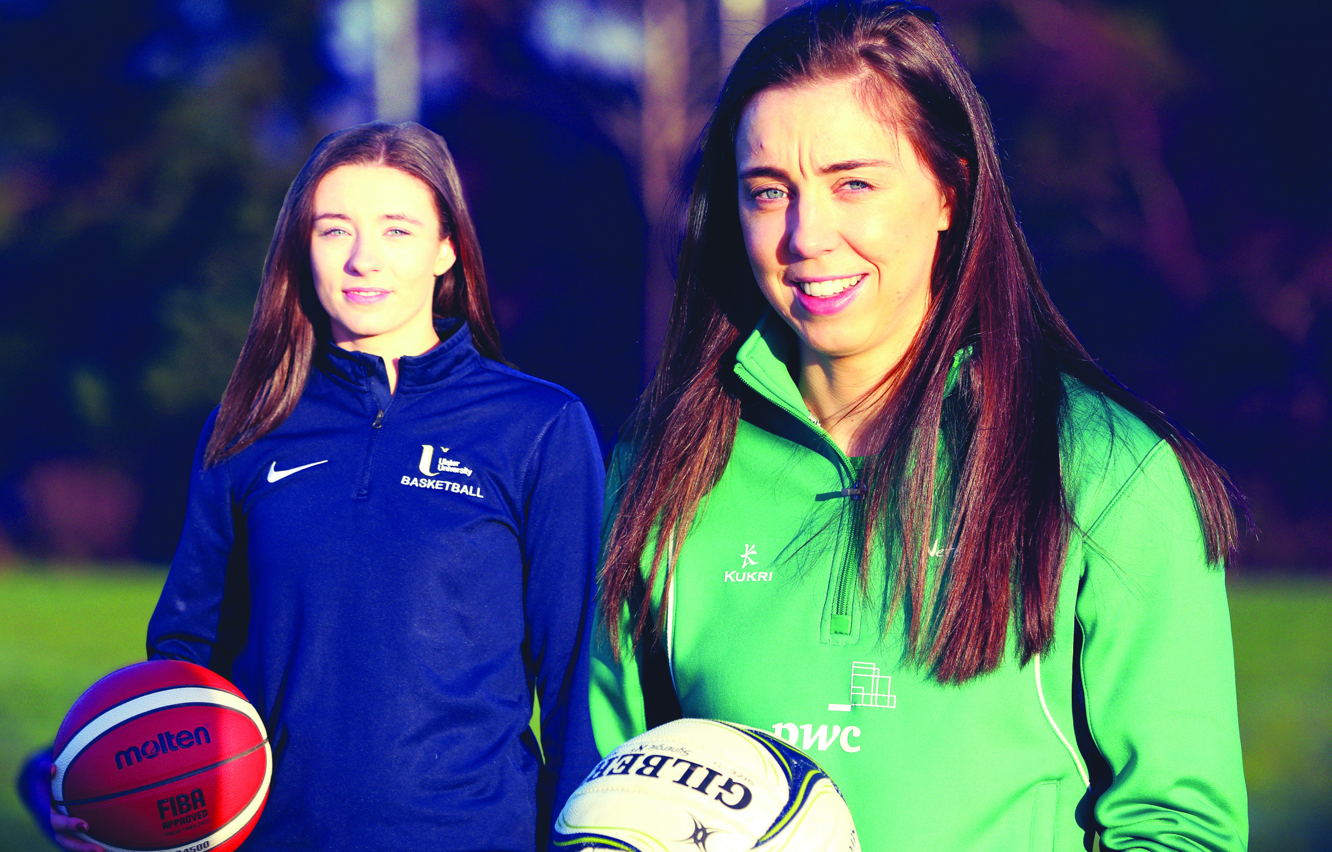 Ciara Cooke and Fionnuala Toner have backed the partnership between Basketball NI and Netball NI with both experienced players in each code