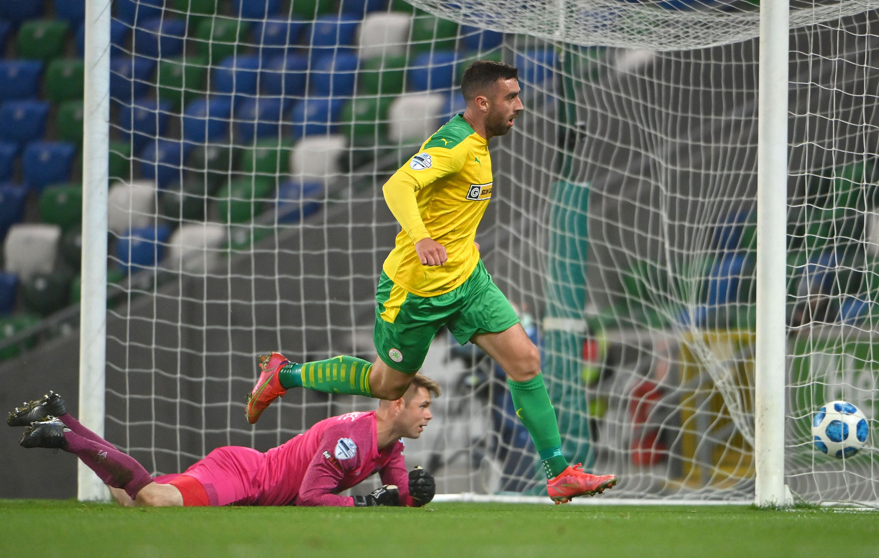 Joe Gormley netted the equaliser against Linfield on Friday